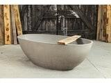 betonnen bad model Jessica (kleur 2) - met kraan en badplank