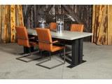 Betonnen tafel Peize met stoelen