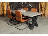 Betonnen tafel Vries met stoelen